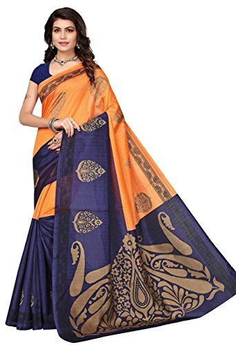 Fabwomen-Cotton-Silk-Saree-with-Blouse-Piece-Free-Size-Beige