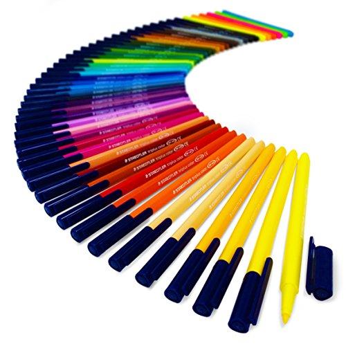 Staedtler triplus color Schreibgeräte, Metall Geschenkdose von 50Brillante Farben–1,0mm