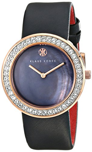 Klaus Kobec Women's KK-10021-03 Penny Analog Display Japanese Quartz Black Watch