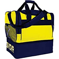 BORSONE GIVOVA BIG 10 / MEDIUM 10 PALESTRA FITNESS BORSA CALCIO ALLENAMENTO GARA TRAINING (Giallo / Blu, Medium) - Calcio 2010 Di Calcio