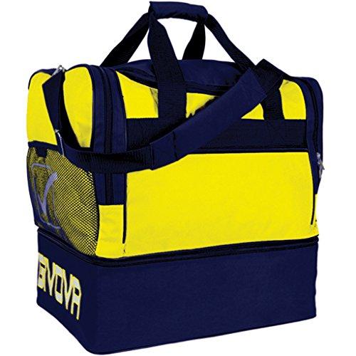 Givova b0010, borsa big 10 unisex, giallo/blu, taglia unica