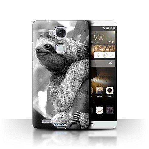 Stuff4® Hülle/Hülle für Huawei Ascend Mate7 / Faultier Muster/Zoo-Tiere Kollektion