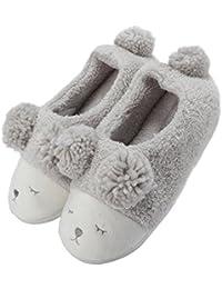 Pantofola Peluche Invernale Animale Donna f0f6ad8ceb2