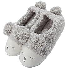 Zapatillas de casa Invierno Suaves Peluche Caliente para Mujer