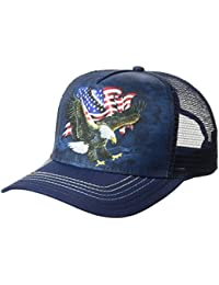 The Mountain Unisex-Adults Eagle Talon Flag Trucker Hat, Blue, One Size fits All