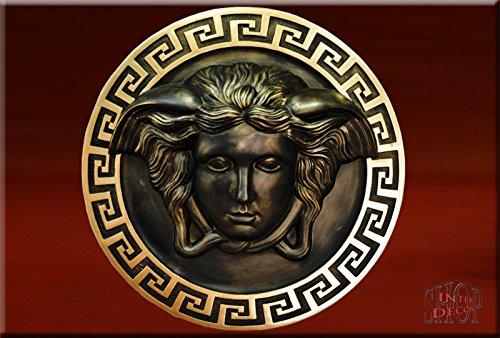 Wandrelief Relief 3D Medusa Mäander Bild Wandbild Skulptur Stuckgips