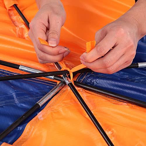 LNNUKc 4-Personen Schlauchboote Boot Sun Shelter Segelboot Markise Top Cover Fischen Zelt Sonnenschutz Regen Baldachin for Seahawk aufblasbare Kajak Kanu Boot Top Kit mit Hardware,Paddelzubehör
