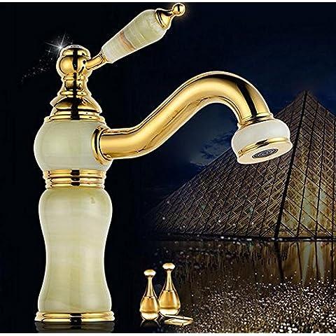 SBWYLT-Giada naturale raffinato ed elegante e Kai-fabbricazione di raffinata doccia calda e fredda monoforo rubinetto di rame