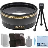Pro Series 58mm 0.43x Wide Angle Lens with Deluxe Lens Accessories Kit for Canon T1i T2i T3 T3i T4i T5i SL1 30D 40D 50D 60D 5D 1D Mark 2 DSLR