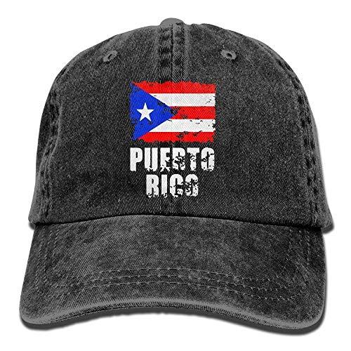 dfegyfr Justierbare Baumwolldenim-Baseballmützen Unisex Puerto Rico-Flaggen-Hut-Hut Multicolor94 Hut Puerto Rico