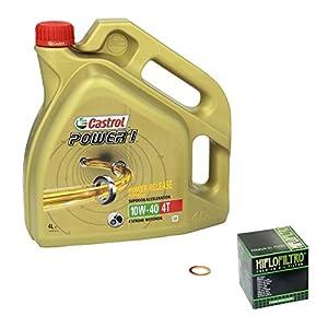 Castrol power1 (10W – 40 huile de 1100 yamaha xV virago -a partir de 89 à 93 hiFlo temps, filtre à huile et joint d'étanchéité pas cher