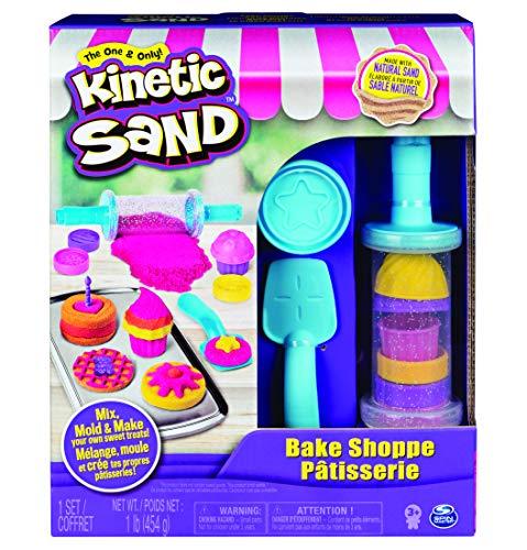 Kinetic Sand 6045940 - Bäckerei Spielset, 454 g Kinetic Sand, Werkzeuge und Förmchen