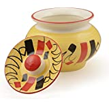 Style My Way Handpainted & Handcrafted Ceramic Handi With Lid