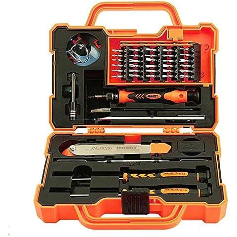 Precisión Profesional caja de herramientas Juego de destornilladores (45 en 1) Kit de herramientas de reparación de teléfonos inteligentes para el ordenador portátil de la tableta Electrónica encaja iPhone, iPad, Samsung Galaxy / Tab, HTC, LG, Uno Más y