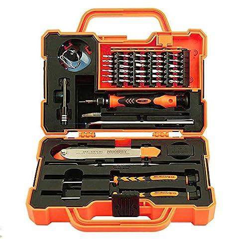 Candoratm 45en 1Electronics Repair Tool Kit Multi Embouts de tournevis avec pince à épiler Spudger pour ordinateur portable Smartphone Tablette réparation