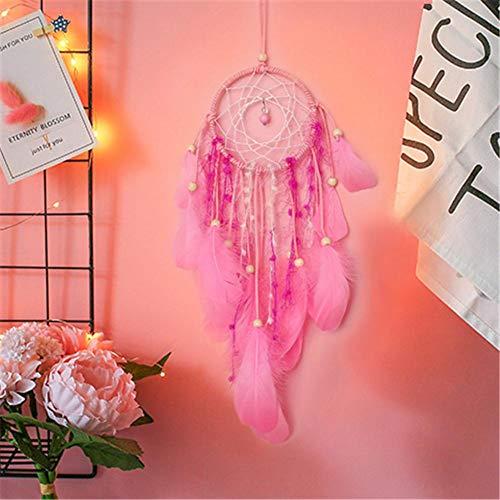 terferein Roman Rose Dreamcatcher Mode Décoration Cadeau d'anniversaire Perles Pendentif Plume Bijoux Fille