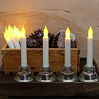 Materiale: Plastica Colore della lampada: bianco caldo candela di colore: bianco dimensioni Candela: 6.5 * 0.8 inchs Alimentazione: a batteria (AA batterie non incluse) Dimensioni del pacchetto: 5.3 * 1.7 * 6.5 pollici A batteria senza brucia...