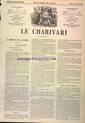 CHARIVARI (LE) du 06/10/1884