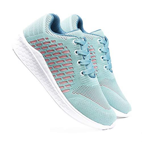 meriggiare® Women Fashion Sneakers Lightweight Sport Gym Jogging Casual Walking Air Cushion Athletic Tennis Running Sports Shoes-Sea Green Euro-36