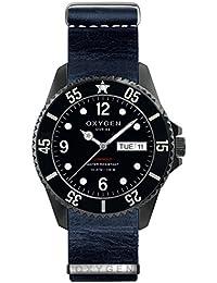 University Sports Press EX-D-MBB-44-NL-NA - Reloj de cuarzo unisex, correa de cuero color azul