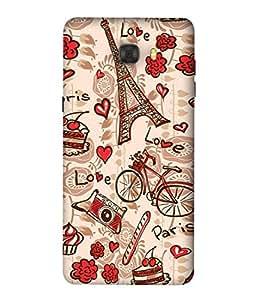 PrintVisa Designer Back Case Cover for Samsung C7 Pro (Lovley Effiel Tower Love Bicycle Camera Paris)