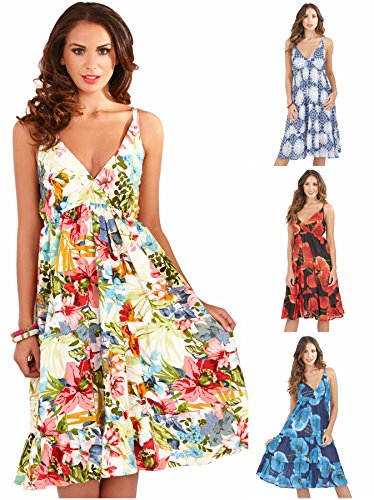 491dfb07275c Martildo-Fashion-Ladies-Midi-Length-Cross-Front-Floral-