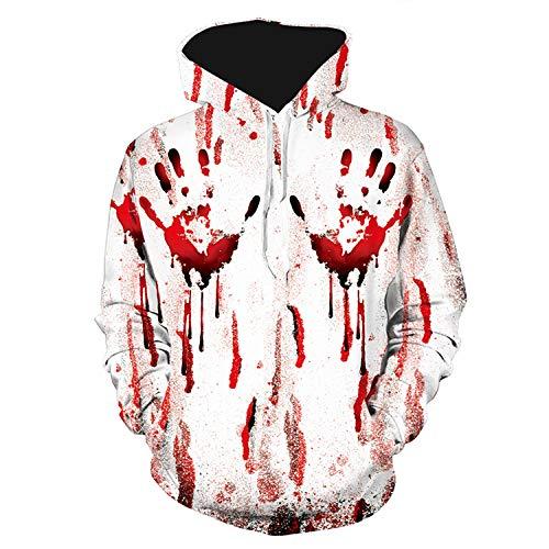 URVIP Unisex 3D Druck Halloween Kapuzenpullover Sweatshirt Langarm HerrenTop Shirt Herbst Hoodie L61032 XXXL (Best Halloween-kostüme Adult 2019)