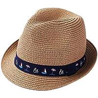 Sombrero de Fedora Sombrero para el Sol con velero Sombrero de Paja de  Primavera y Verano f50ffa563fa