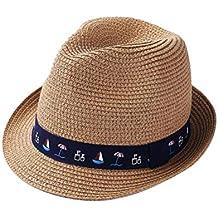 Sombrero de Fedora Sombrero para el Sol con velero Sombrero de Paja de  Primavera y Verano f845f45dbfc
