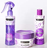 Morfose Keratin Haarpflege Set Shampoo 230ml,Haarkur 250ml,Leave-in TwoPhase Conditioner 220ml, Hair Care Set