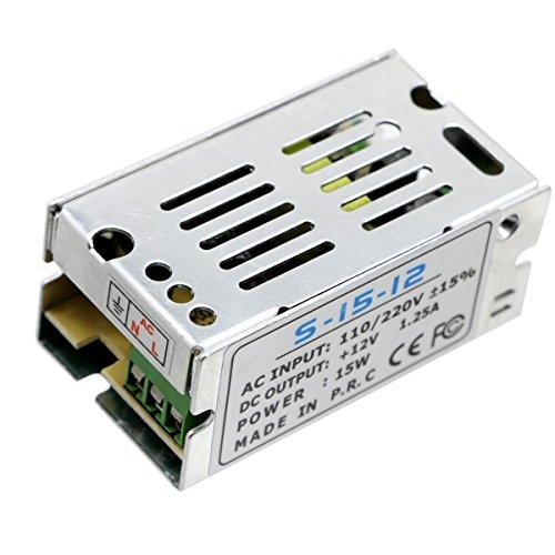 JIALUN- LED Mini-Größe LED Schaltnetzteil 12V 1.25A 15Watts Beleuchtung Transformator (Halloween Transformatoren)