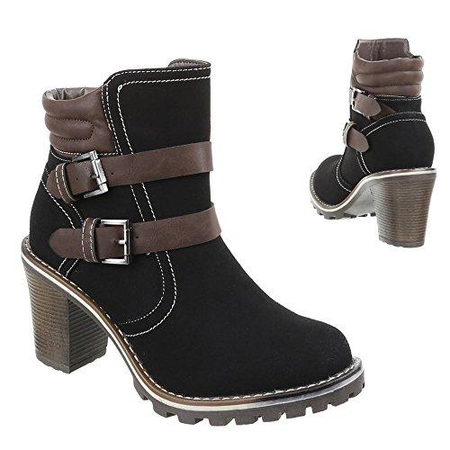 Sapatas Boots Pretas 085 ga Das Ankle Senhoras qg4Xgrw