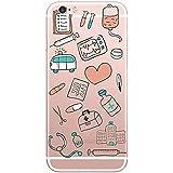 PTitanMantisP Diversión incluye suministros médicos como termómetros y estetoscopios imprime suave funda ()(iPhone 6S/4.7,Multicolor)