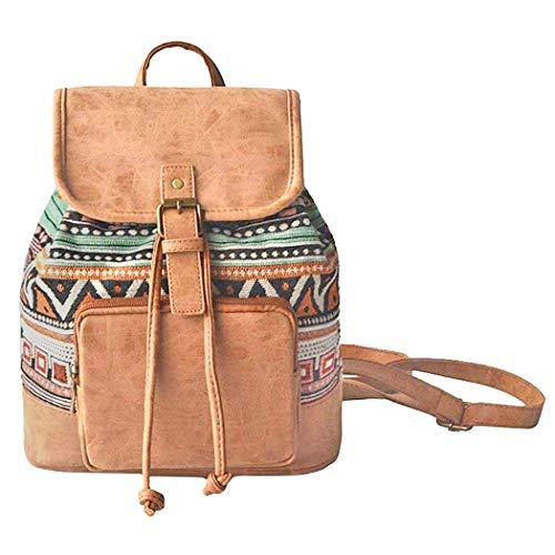 Abaría - Moda la mochila de lona y cuero, bolsos de mujer,...