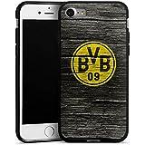 Apple iPhone 7 Hülle Silikon Case Schutz Cover Borussia Dortmund BVB Holzoptik