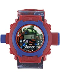 Shanti Enterprises Combo Sports Watch Multi Color Dial For Kids And Avengers 24 Images Projector Watch