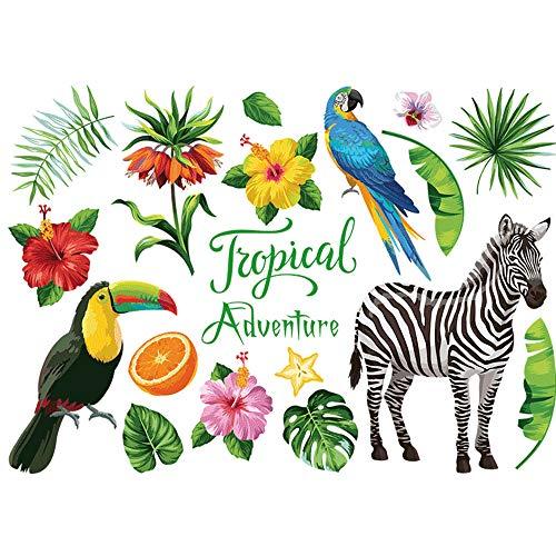 SSXY Tapete Wandbild Kunst Wandtattoo mit 50 * 70cm PVC Dschungel Tier Zebra Dekor