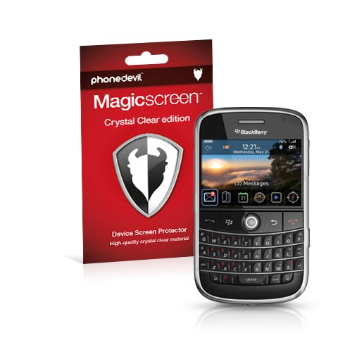 MediaDevil BlackBerry Bold 9000 Displayschutzfolie: Magicscreen Crystal Clear (Unsichtbar) Edition [2 Stück] 9000 Screen Protector