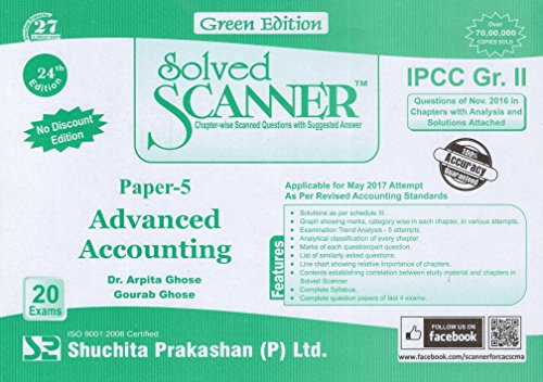Solved scanner CA IPCC Group- II Paper-5 Advanced Accounting  available at amazon for Rs.190