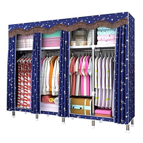 DPPAN Große Größe Portable Storage Closet, verdicken Schattierung Tuch Kleidung Veranstalter Kleiderschrank Regale,B_200x51x180CM