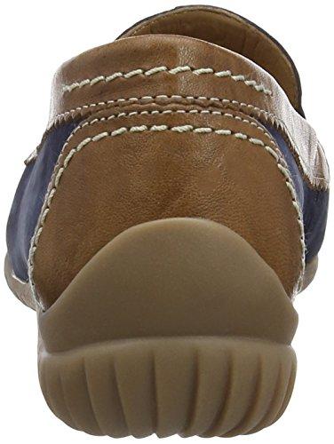 Gabor - Gabor, Mocassini  da donna Blu (Blue (Navy Blue Nubuck/Brown Leather))