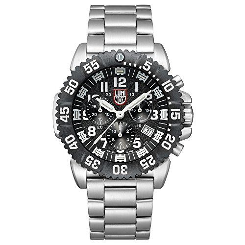 Luminox Mens Chronograph Quartz Connected Wrist Watch with Stainless Steel Strap XS.3182.L