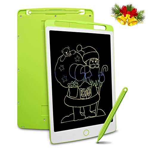 Richgv LCD Writing Tablet mit Anti-Clearance Funktion und Stift, Digital Ewriter Grafiktabletts Mini Schreibtafel Papierlos Notepad Doodle Board (10 Zoll, Grün+Weiß)