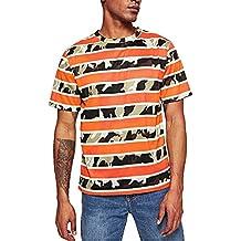 Gusspower Camiseta de Manga Corta para Hombre Personalidad Deporte T-Shirt Estampado de Camuflaje a