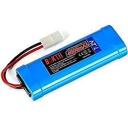 BAKTH 7.2V 4000mAh NiMH Pack de Course de Batterie RC pour Les Voitures modèles, Avions, Robot (Jouet), Pack de Batterie Haute Performance RC + Coaster comme Un Cadeau
