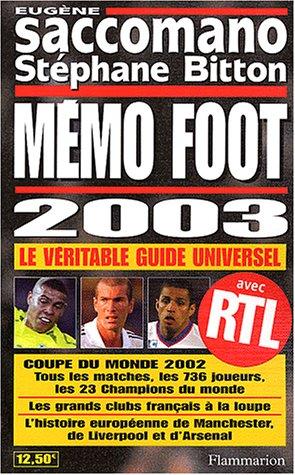 Mémo Foot 2003