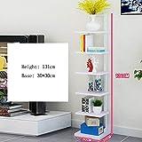 Unbekannt FEI Regal mit 7 Reifen, Bücherregal, Bücherregal, Bücherregal, Bücherregal, Wandregal, Regal mit 9 Farben weiß