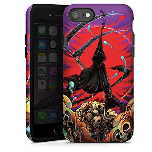 Apple iPhone X Silikon Hülle Case Schutzhülle Sensenmann Totenkopf Sense Tough Case glänzend