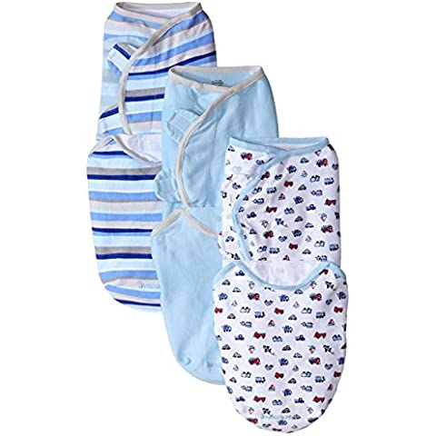 Summer Infant 3 Piece SwaddleMe Adjustable Infant Wrap, Beep Beep,