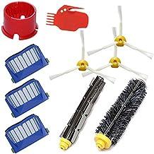 DigitalTech® Pack/Kit reposición de 10 cepillos, filtros y Accesorios para aspiradoras iRobot